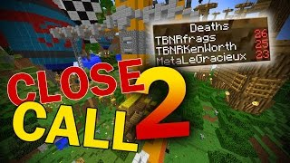 CLOSE CALL CHALLENGE PARKOUR (Minecraft Custom Map w/Preston & Kenny)