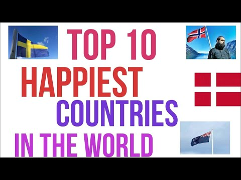 TOP TEN MOST HAPPIEST COUNTRIES AROUND THE planet 2012  by Zuhaib Iqbal