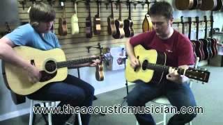 The Acoustic Musician Eastman E6D and E8D guitar demo