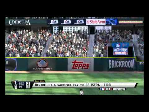 MLB 12 The Show: Texas Rangers @ Detroit Tigers Highlights - Game 15/162