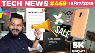 Realme X Sale Today, Redmi K20 Open Letter, LPDDR5 RAM,5K Display Phone, ROG Phone 2, FaceApp-TTN469