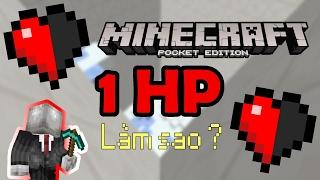 THÁCH BẠN SINH TỒN CHỈ VỚI 1 NỬA GIỌT MÁU | Minecraft PE 1.0.3