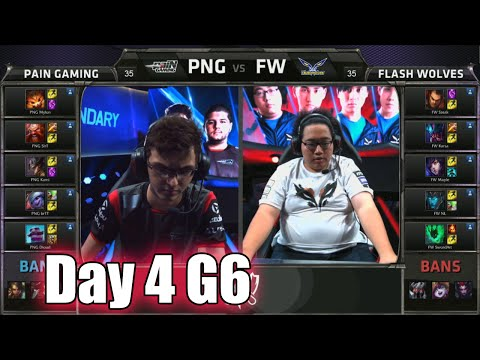 paiN Gaming vs Flash Wolves | Day 4 Game 6 Group A LoL S5 World Championship 2015 | PNG vs FW D4G6