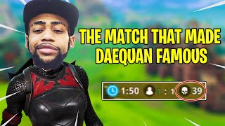 The Match That Made Daequan Famous In Fortnite