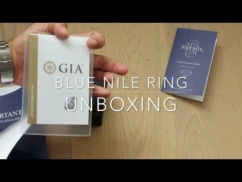 Blue Nile ring unboxing