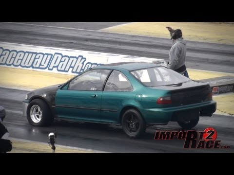 Honda Civic vs Ford Mustang 10sec 1/4 mile race