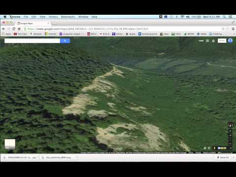 Oso Washington Landslide Area 3D View