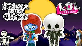 🌙 The NIGHTMARE BEFORE CHRISTMAS 🎄Custom LOL SURPRISE DOLLS Jack & Sally - DIY Toy Transformations