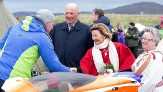 King and Queen of Norway visiting Mehamn - A memory for life