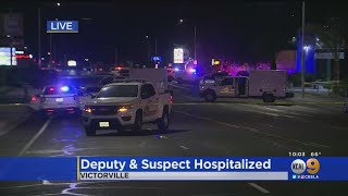 Deputy, Suspect Injured In Shooting After Armed Suspect Tries To Ram Into Deputies