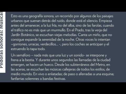 Músicas | Paisajes sonoros de Madrid | Carlos de Hita en Conde Duque