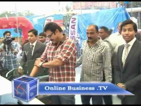 Actor Venkatesh Launches Laxmi Nissan Show Room, Hyderabad