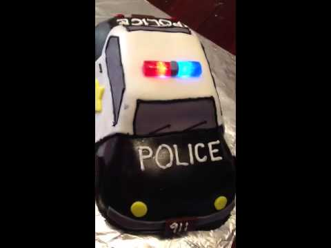 Police Car Cake Tutorial Police Car Cake