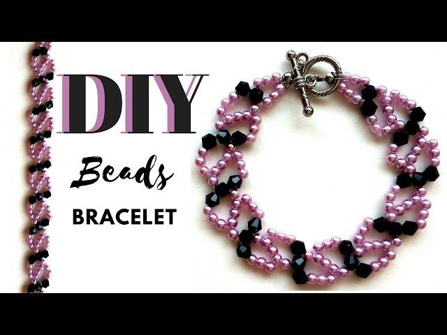 Learn beading.  Beads bracelet making. Beginners beading tutorial