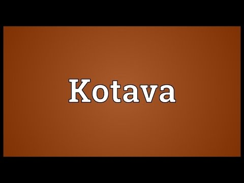 Header of Kotava