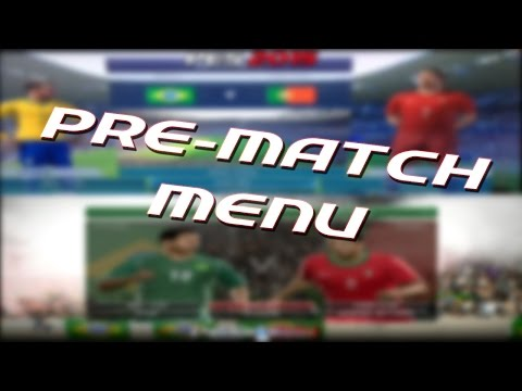 PES 2015 Pre-match menu