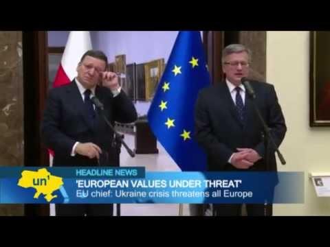 EU Chief Jose Barroso: European values under threat from Russian aggression in Ukraine