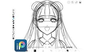 Ibispaint - Drawing Anime Heads (NOT HELPFUL)