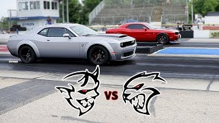 DEMON GETS SPANKED BY HELLCAT! NOT ONCE BUT TWICE! BYRON DRAGWAY!