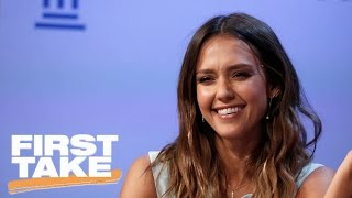 jessica alba full interview on first take first take april 5 2017