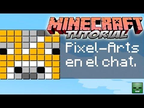 Tutorial Minecraft: Pixel-Arts en el chat [Filtro de McEdit]