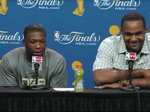 Glen 'Big Baby' Davis and Nate Robinson Postgame Game 4 NBA Finals 2010 (6-11-10) Video