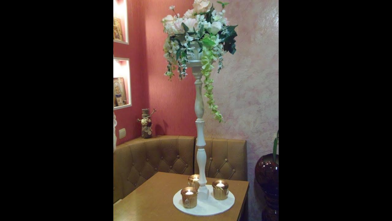 Свадебные стойки для цветов своими руками 36