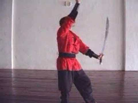 Double Broad Sword Techniques GoldenTiger Hung Gar Kung Fu Image 1
