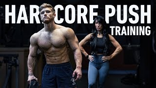 Hardcore Push Workout | My New Diet Experiment (Leaner And Fuller)