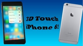 How To Simulate Force Touch/3D touch On iPhone 6 and Below!