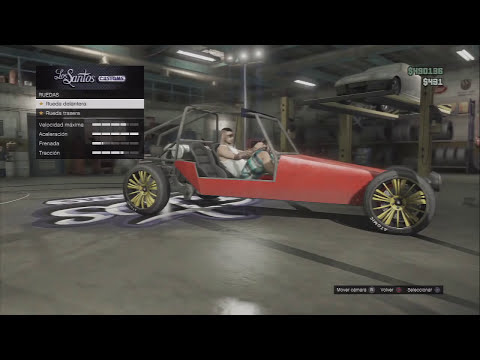 TRUCO GTA V ONLINE: Como tunear, modificar DUNE BUGGY (modificado) llantas, claxon, color etc