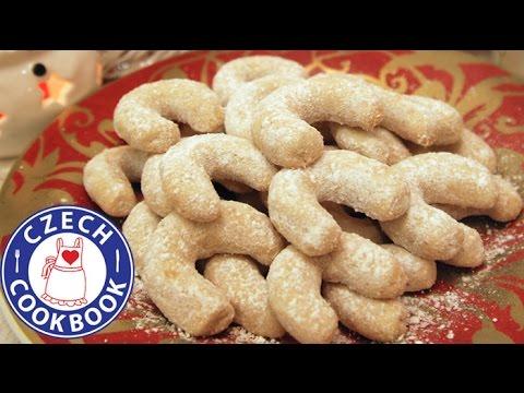 Vanilla Crescents Recipe Vanilkove Rohlicky Czech Cookbook Youtube