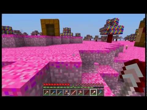 MINECRAFT MOD!  Candy land 1.5  Minecraft en el mundo de Piruleta!!!