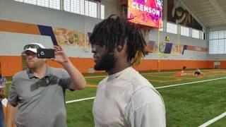 TigerNet.com: Deon Cain after practice - August 5, 2017