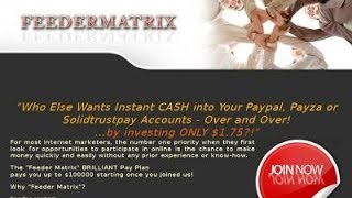 FeederMatrix Turn $1.75 into $100000!! The Best!!!