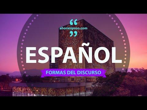 Guía de Español UNAM 2017 - Formas del discurso