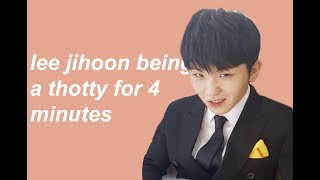 lee jihoon popping off for 4 minutes