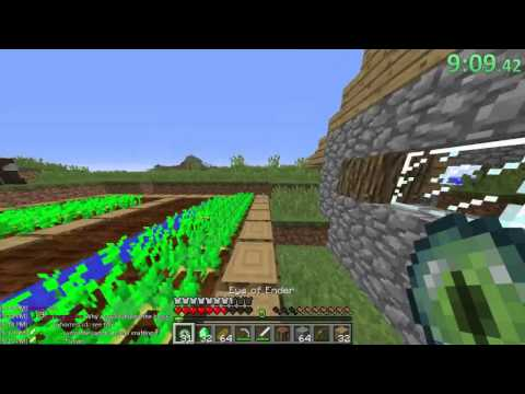 Minecraft Former World Record Speedrun 19:31 Random Seed