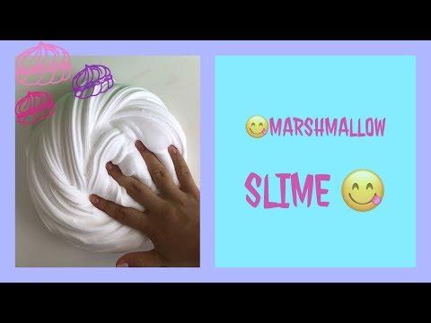 Как сделать слайм?// DIY слайм маршмэлоу/ зефирка😋