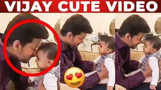 CUTE VIDEO: Thalapathy Vijay Playing with a Baby!