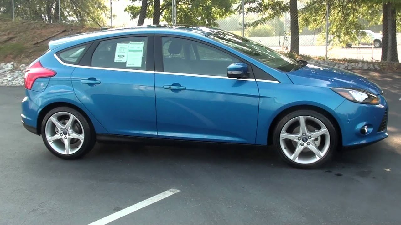 Blue 2012 ford focus