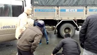 Csgt bị xe tải đè ở gần đèo pha đin sơn la