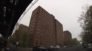 Streets of Brownsville, Brooklyn - Drive through Livonia, Sutter, Blake, Dumont, Rockaway, Pitkin...