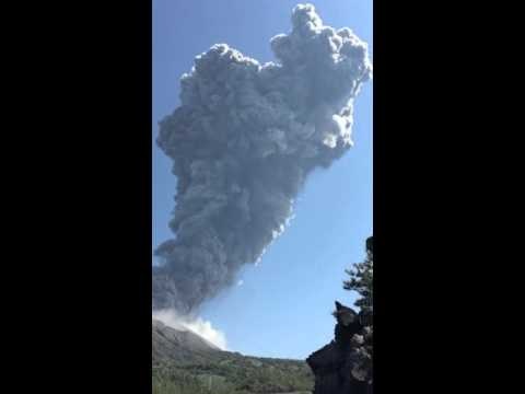 today Sakurajima erupted again