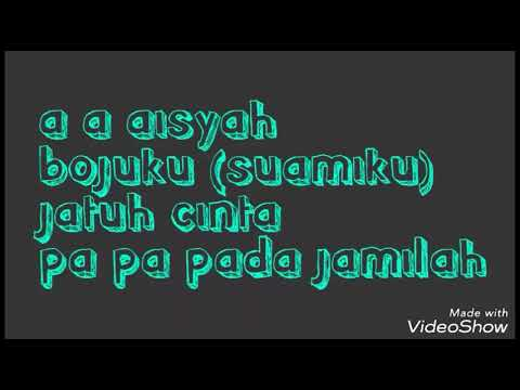 Lirik Aisyah jatuh cinta pada jamilah AKIMILAKUO - DJ tiktok populer