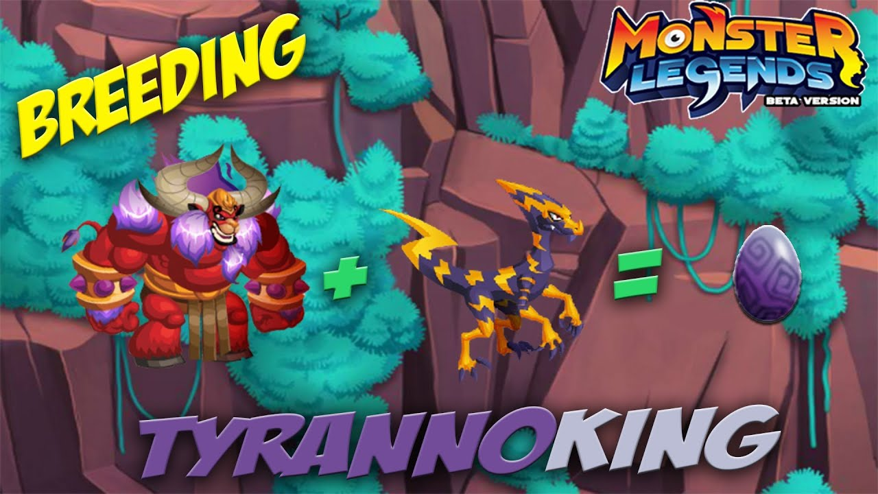 Monster Legends How To Get Tyrannoking Combat Youtube