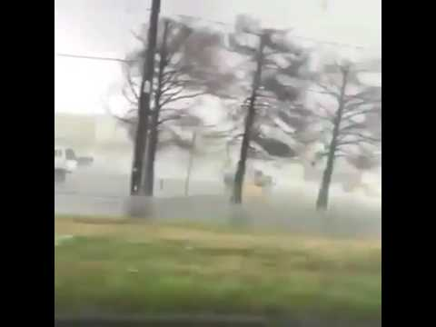 Amateur video of a tornado. New Orleans, Louisiana 07/02/2017