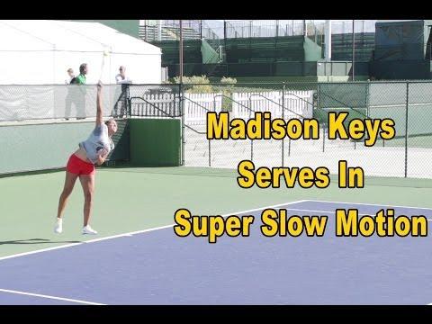 Madison Keys Serve In Super Slow Motion - BNP Paribas Open 2013