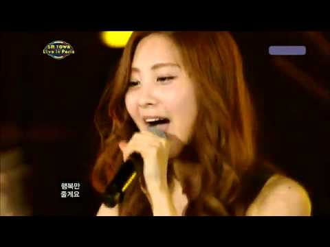 110702 Snsd - Kissing You Live  Smtown Paris Concert video