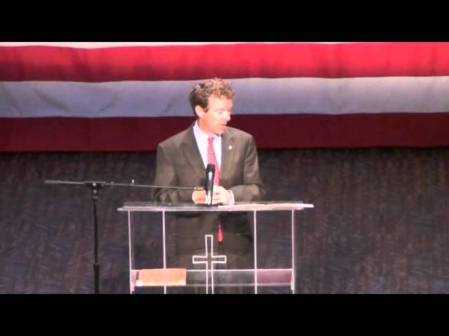 Rand Paul at Iowa Faith and Freedom Coalition, pt. 2